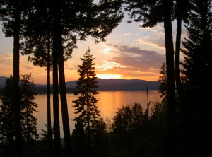 Lake Pend Oreille Sunset