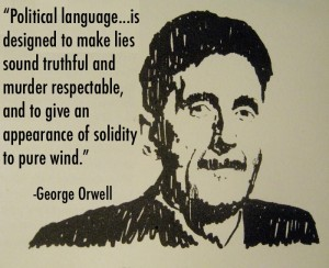 "usage of doublespeak Top 5 orwellian nightmares that already exist by robert runyon  orwell describes the usage of a practice called ""doublethink,"" in which a word's meaning is."